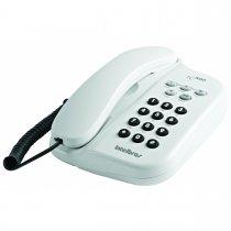 TELEFONE COM FIO BRANCO TC 500 INTELBRAS