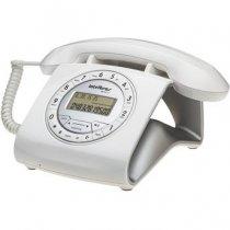 TELEFONE COM FIO BRANCO INTELBRAS