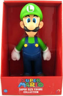 BONECO LUIGI - SUPER MARIO SUPER SIZE FIGURE COLLECTION