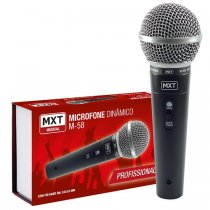 MICROFONE COM FIO 3 METROS MXT M-58