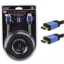 CABO HDMI 5 METROS 4K 2.0 3D ULTRA HD